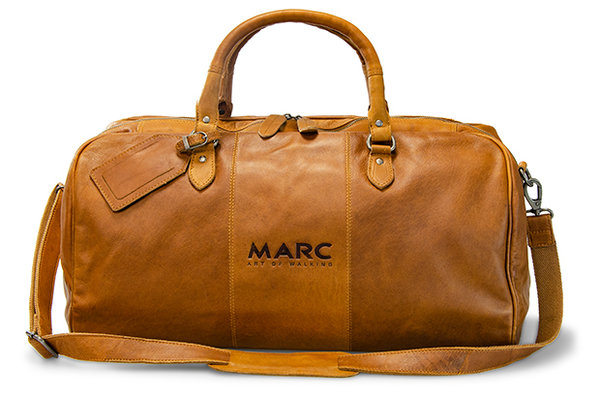 Reisetasche Boston Leather cognac
