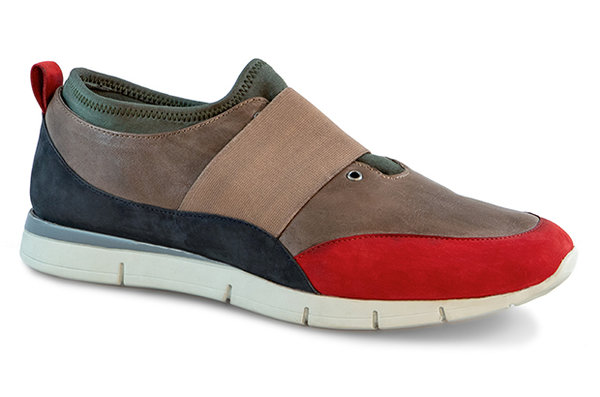 Luca Nappa-Cow Suede grey-red B-Ware