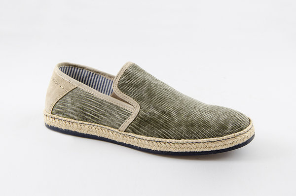 Newport Canvas-Cow Suede military