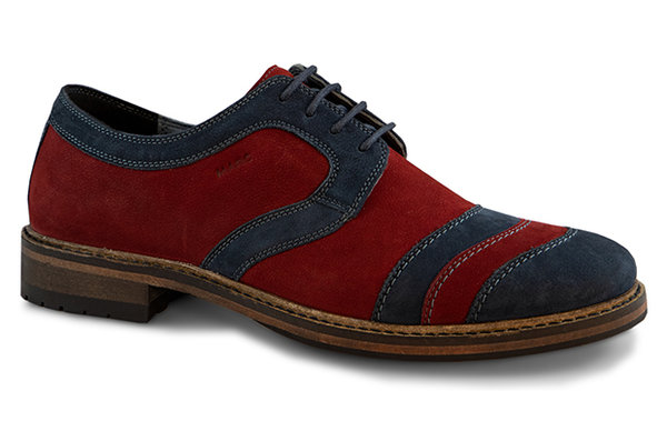 Brentwood Cow Nubuk dark red