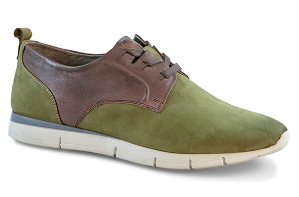 Luca Cow Suede--Nappa olive-combi